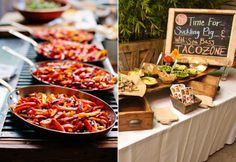 Taco Bar // Photo Left: Justine Ungaro // Photo Right: George Simian // Catering: Heirloom
