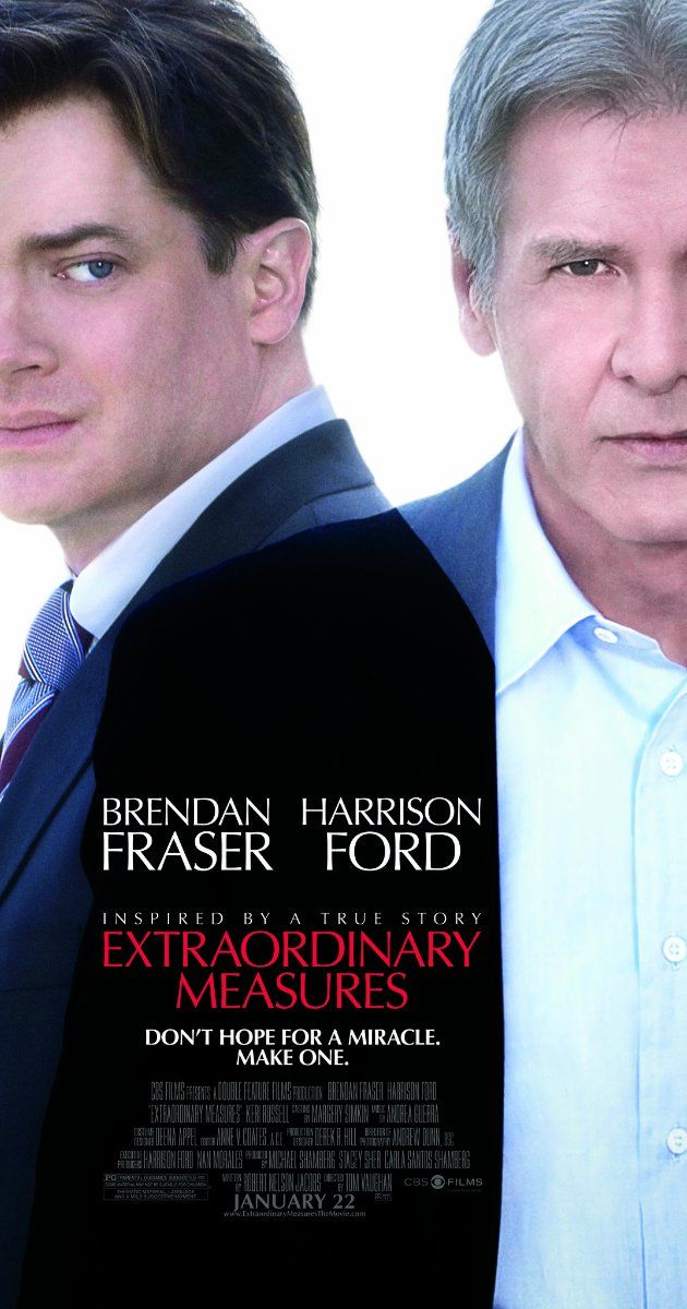 Extraordinary Measures (2010)  rated 6.5 A drama centered on the efforts of John and Aileen Crowley to find a researcher who might have a cure for their two children's rare genetic disorder.