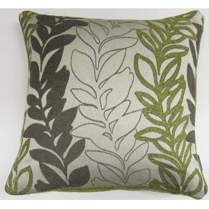 Chenille Green, Brown & Cream Pillow Cover HOME Pinterest Cream pillow covers, Pillows and ...