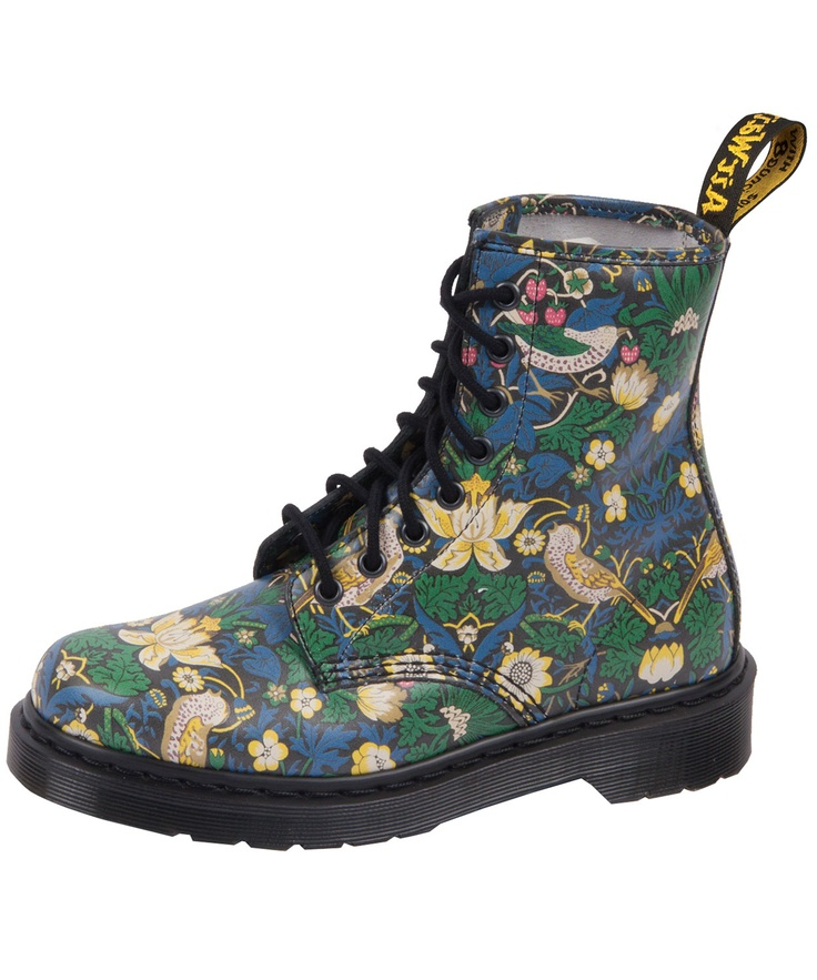 """""""Strawberry Thief"""" Doc Martens. Own 'em, can't bring myself to start wearing them.  They're too pretty!"""