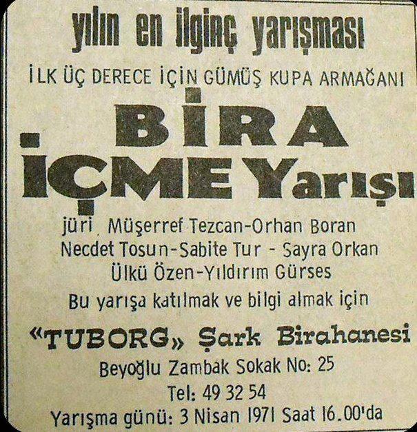 Bira İçme Yarışı (1971) jüri: Müşerref Tezcan, Orhan Boran, Necdet Tosun, Sayra Orkan, Ülkü Özen, Yıldırım Gürses #istanlook