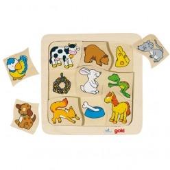 Puzzle – čo jedia zvieratká?