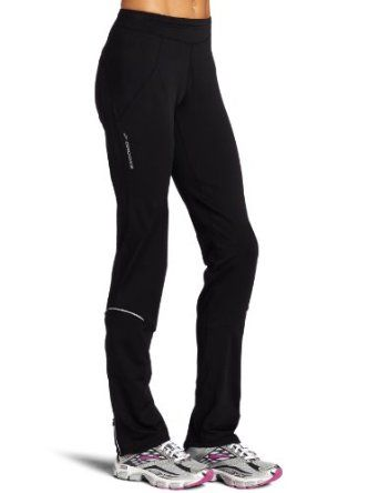 Insulated cold weather running pants that aren't skin-tight and that cover your ankles. Great for taller, longer-legged ladies.