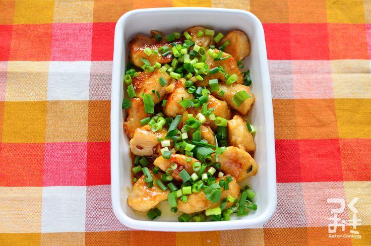 にんにく、大葉、わさびを入れた薬味たっぷりなソースを絡ませたおかずです。鶏もも肉のわさび醤油と同じで、いっぱいわさびを入れてもツンとせず、ほのかに香るくらいの味です。