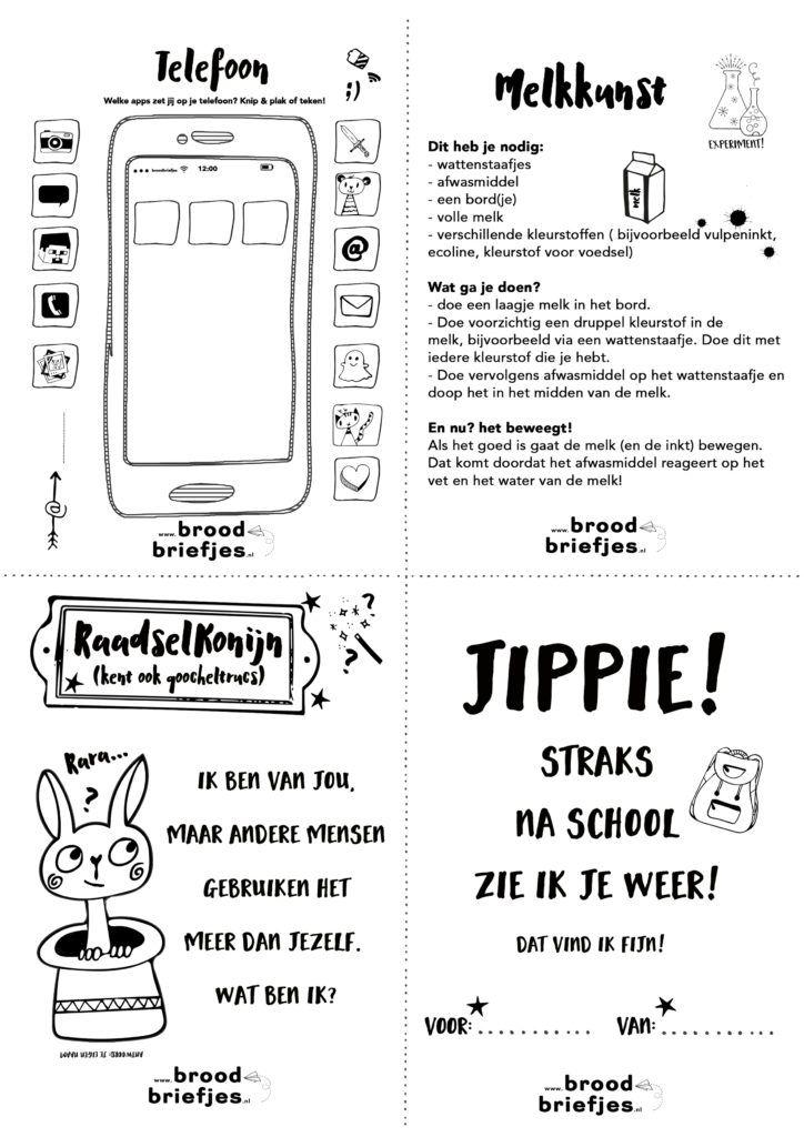 Weer een nieuwe set BroodBriefjes! Printen maar vanaf broodbriefjes.nl!