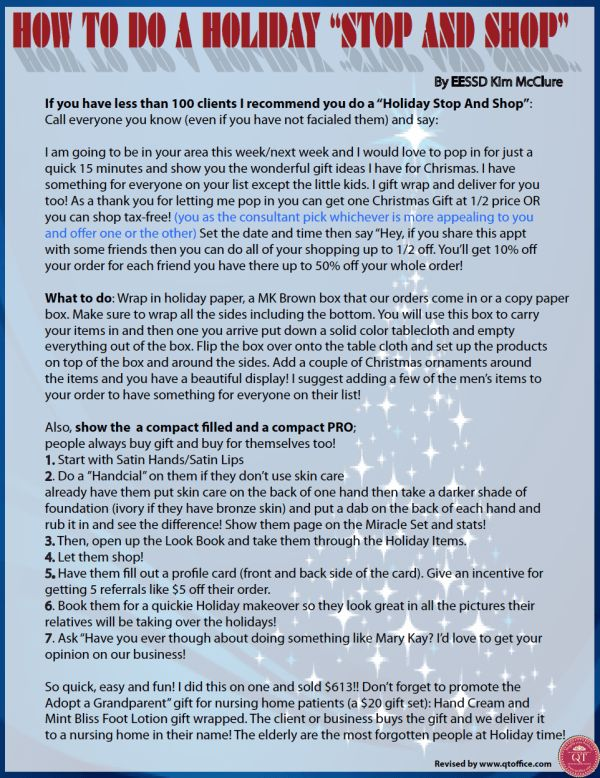Holiday Stop and Shop Idea by NSD Kim McClure  http://www.blog.qtoffice.com/holiday-stop-and-shop-idea-by-nsd-kim-mcclure/