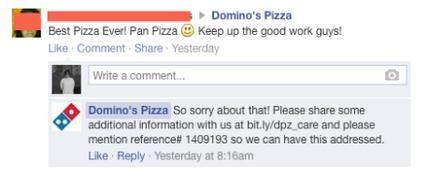 Resposta errada da Domino's! Fail do SAC 2.0
