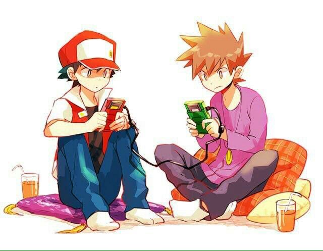 Pokémon Red and Green playing Pokemon Game Boy