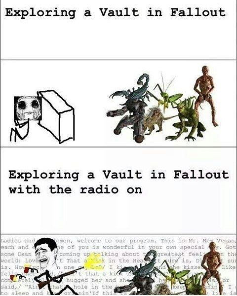 Fallout would probably scare me if I didn't have the radio on XD