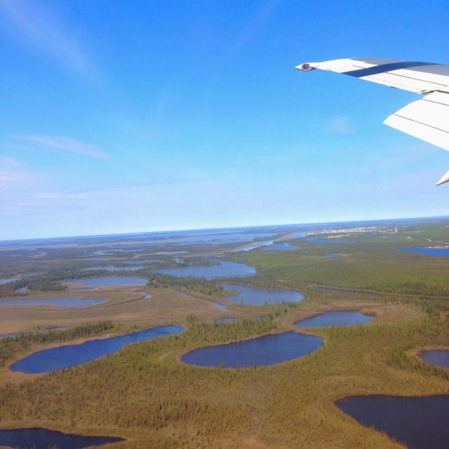 Overlooking the Mackenzie Delta, NWT, Canada.
