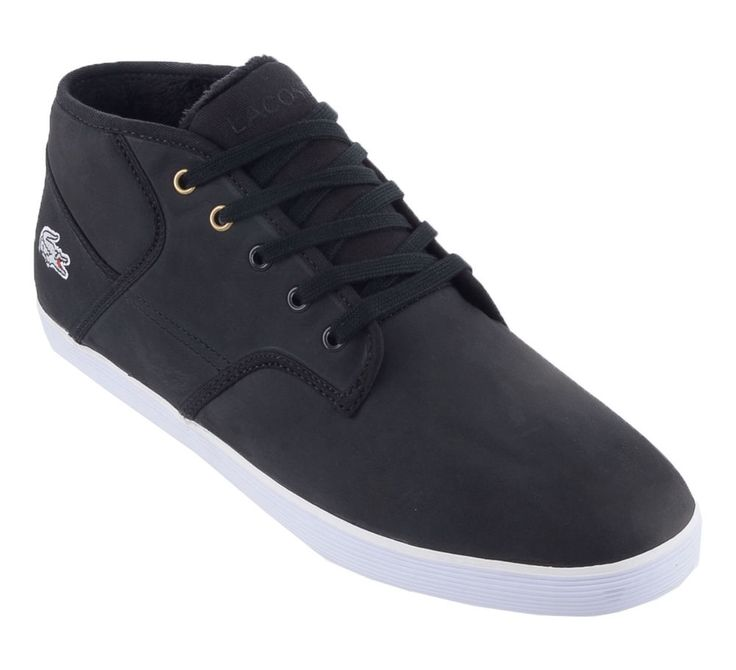 Lacoste Mens Casual Andover Black Soft Leather Half Shoes Ortholite Insole