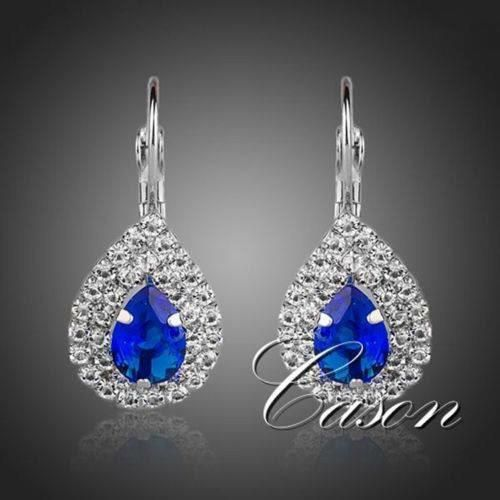 blue crystals earrings kod 409112