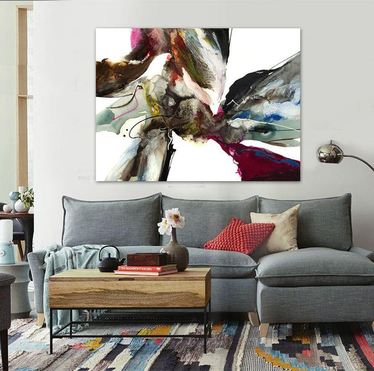Cheap Pintado A Mano Abstracta Moderna Pintura Al Leo