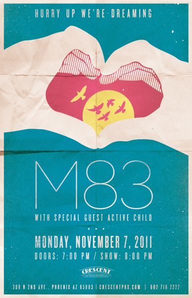 m83 gig poster