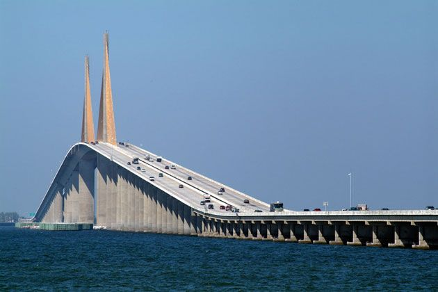 Famous Bridges_11  Sunshine Skyway Bridge, St. Petersburg, FL, USA