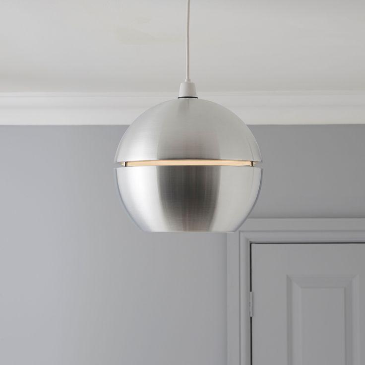 Rainbow Silver Aluminium Spherical Pendant Light Shade | Departments | DIY at B&Q