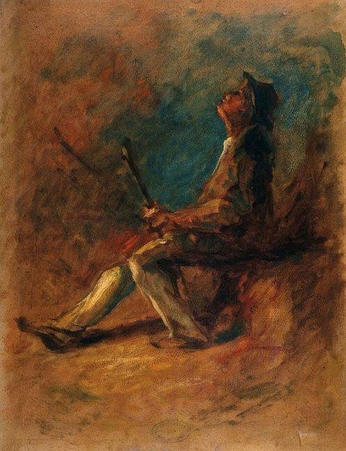 MEDNYÁNSZKY LÁSZLÓ (1852-1919) / Csavargó / 56,5x44 cm, olaj, karton