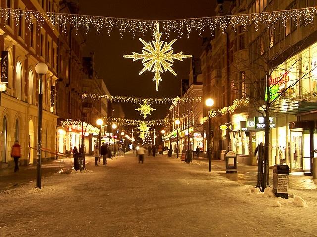Christmas lights in Sundsvall