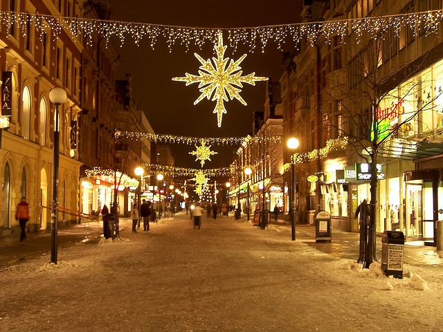 Christmas lights in Sundsvall