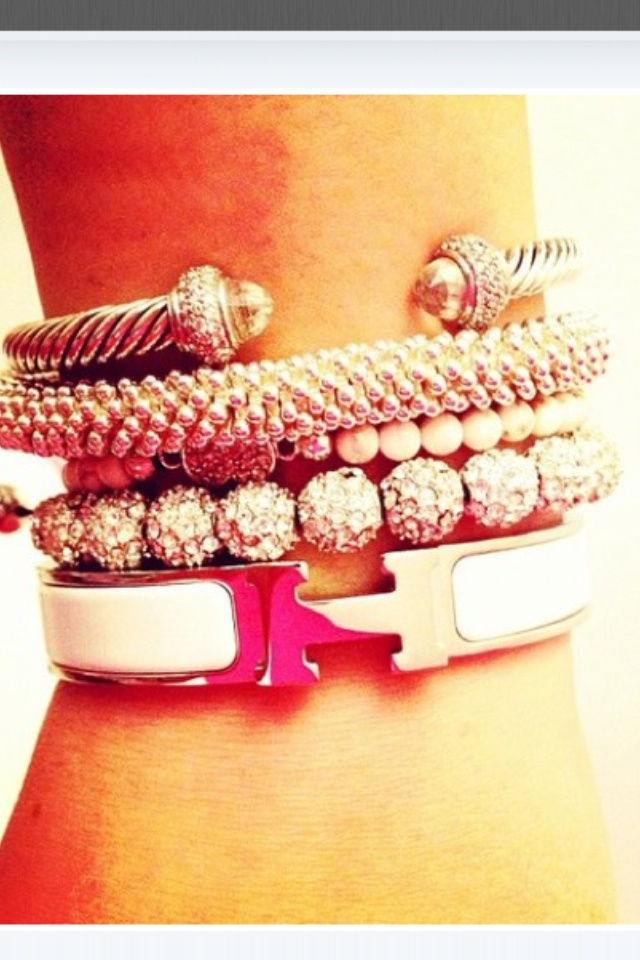 Love this stack, complete with David Yurman and Hermes