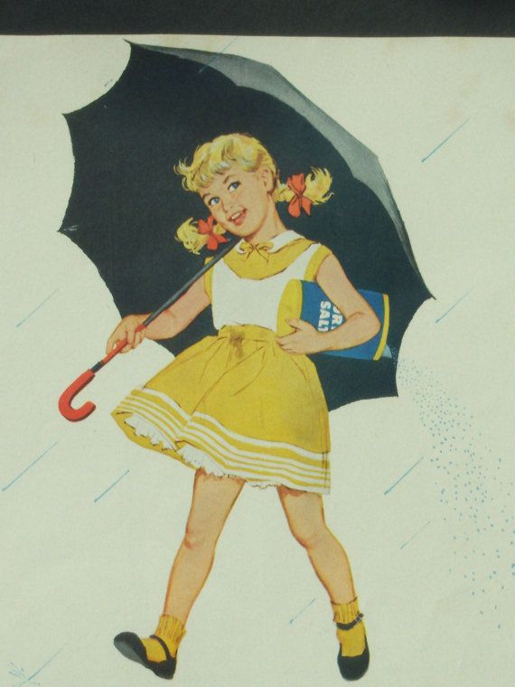 Yellow And Grey Morton Salt Girl Advertisement Kitchen