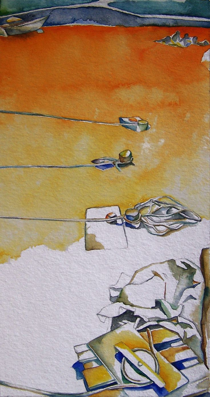 Andrea Papageorgiu  'Seashore'  2014  watercolor on paper