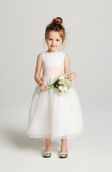 Us Angels Ivory Organza Dress with Sash (Toddler Girls, Little Girls & Big Girls) available at #Nordstrom