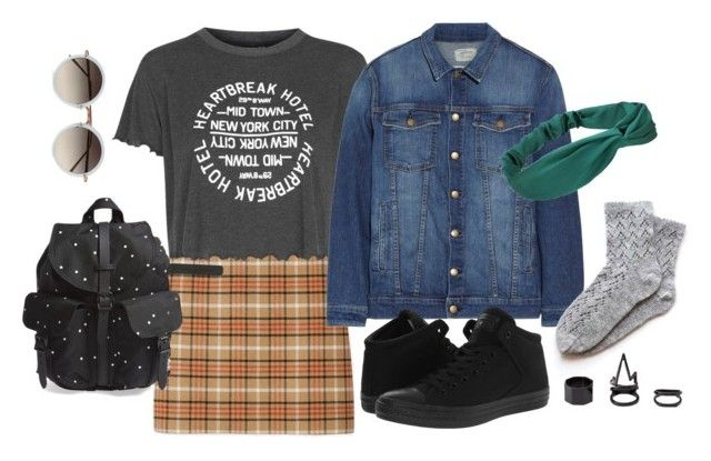 """""""Untitled #71"""" by kelnerka on Polyvore featuring Tory Burch, Topshop, Current/Elliott, Converse, Herschel Supply Co., Charlotte Russe and Linda Farrow"""