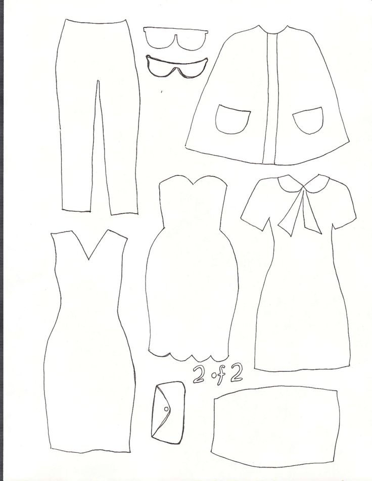 82 best quiet book templates dolls and clothing images on for Felt dress up doll template