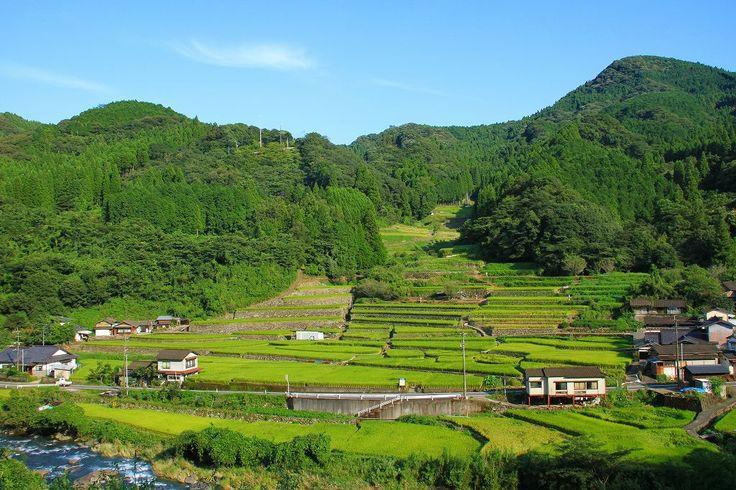 球磨村の風景 日本棚田100選 鬼の口棚田
