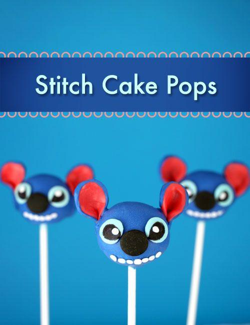 Stitch Cake Pops