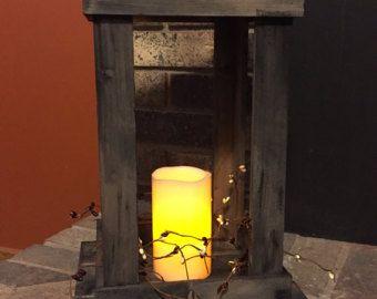 Primitive Laterne Kerze Halter Dekor zurückgefordert