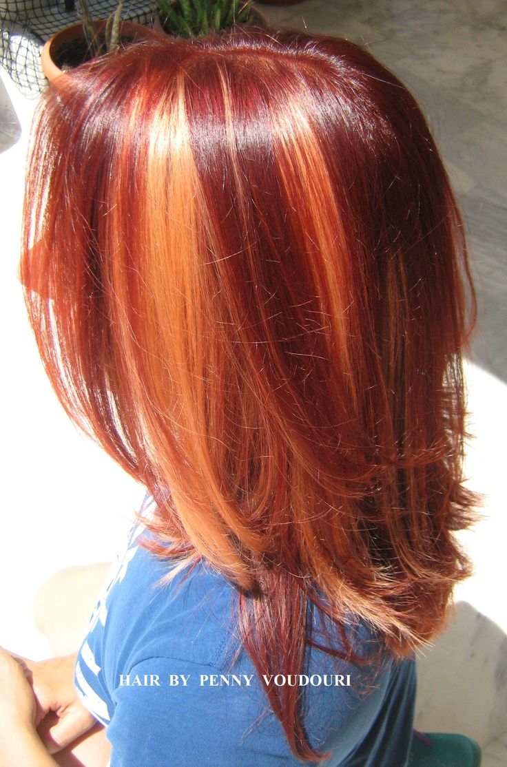 Red , copper & gold Hair Color excitement !!
