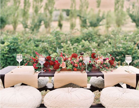 Kraft paper runners: Farms Wedding Photo, Crafts Paper, Kraft Paper, Tables Sets, Floral Design, Apples Photography, Green Apples, Tables Runners, Fall Wedding