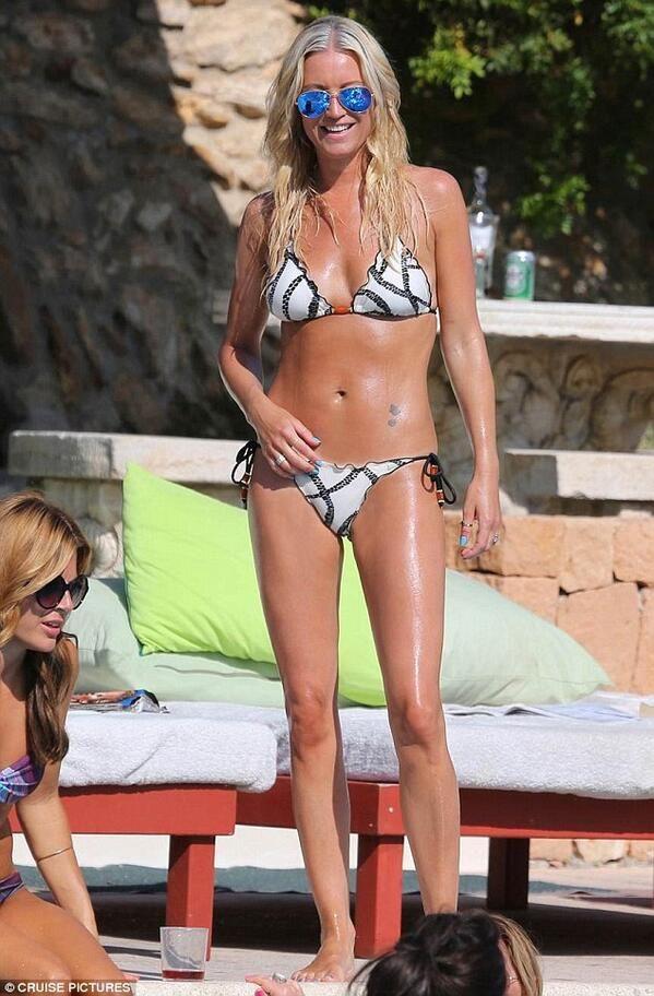 Beautiful Denise Vanouten spotted in VIX Barbados printed bikini in Ibiza