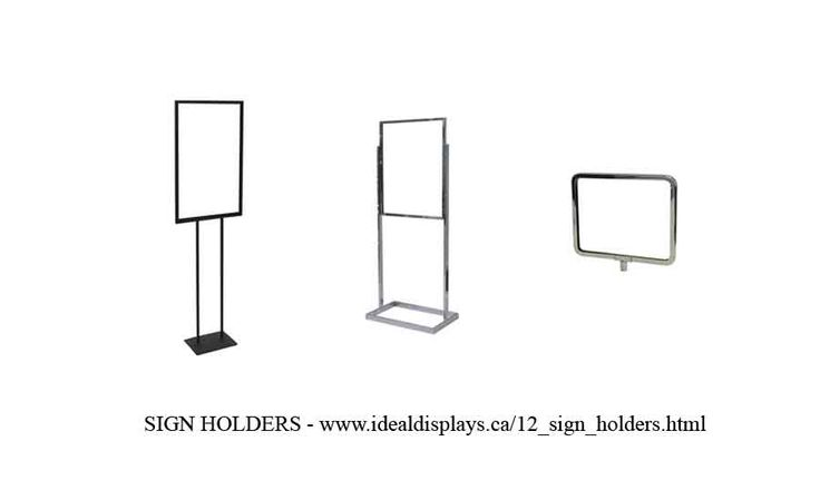 Brochure Holders and Sign Holders - http://idealdisplays.ca/12_sign_holders.html