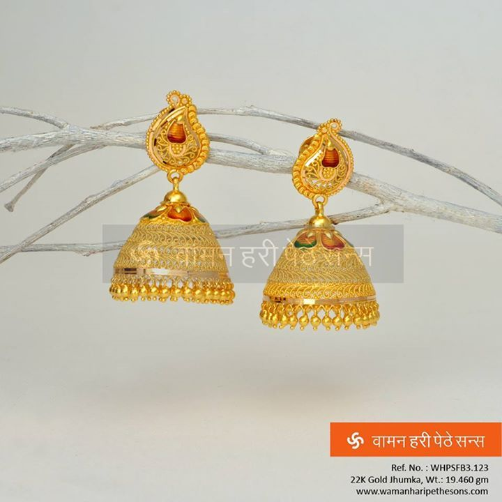 #Beauteous #stunning #attractive #traditional #gold #jhumka from our #beautiful collection.