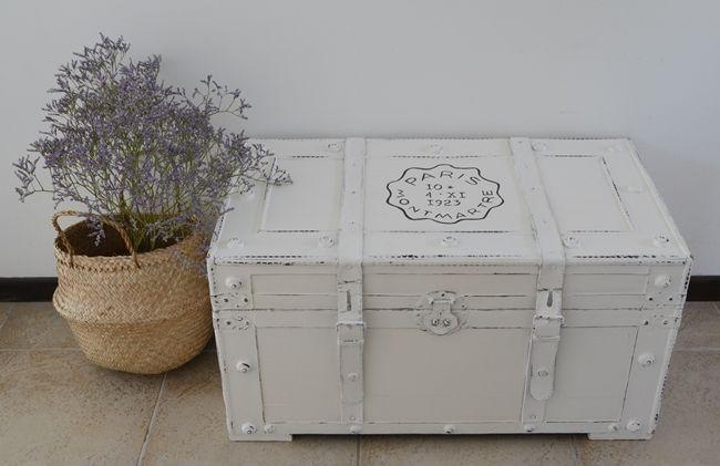 Transformando un baúl con blanco / Vero Palazzo - Home Deco