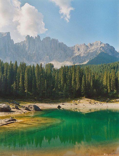 Lago di Carezza e Latemar  Dolomiti  Italia