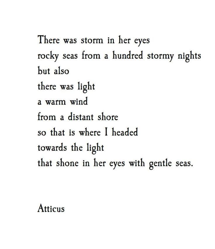 'Gentle Eyes'   @atticuspoetry  #atticuspoetry