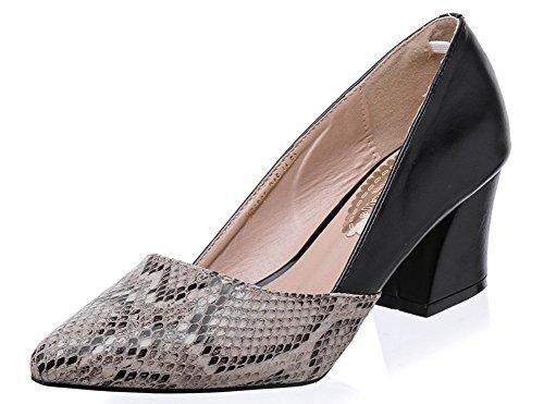 Oferta: 21.55€. Comprar Ofertas de LALA IKAI Zapato de Tacón en Bloque Medio Estampado de Serpiente Talla 35-41 (EU41=26CM, Negro) barato. ¡Mira las ofertas!