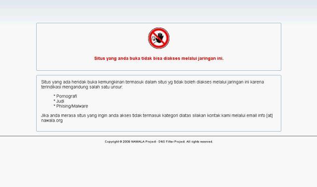 Untuk membuka situs yang diblokir oleh layanan ini langkah-langkahnya adalah seperti dibawah ini :
