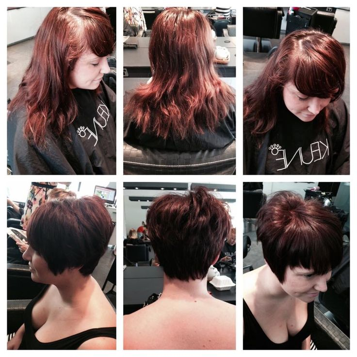 Amazing transformation by the talented amy! Are you ready for the big chop!? #hairbyamy #mhshair