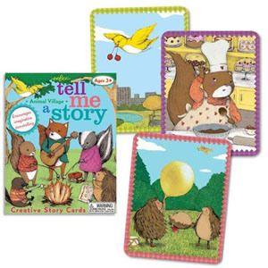Carte e giochi da tavolo per inventare fiabe, favole e racconti - Tell Me a Story - Animal Village - eeBoo