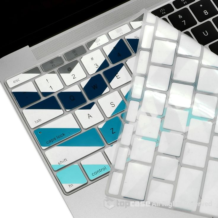 """Apple New Macbook 12"""" Chevron Series Gray Blue& White Zig-Zag Keyboard Cover Silicone Skin for Macbook 12-inch with Retina Display Model A1534 Newest Version 2015"""