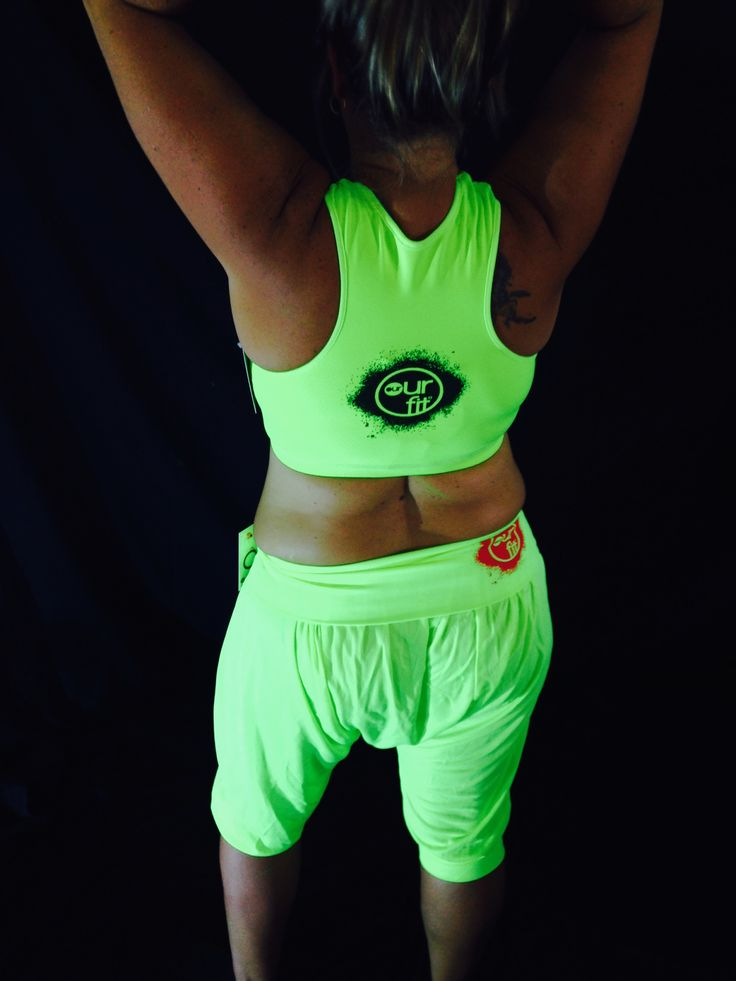 Our Fit Fluro Crop and 3/4 harem Pants