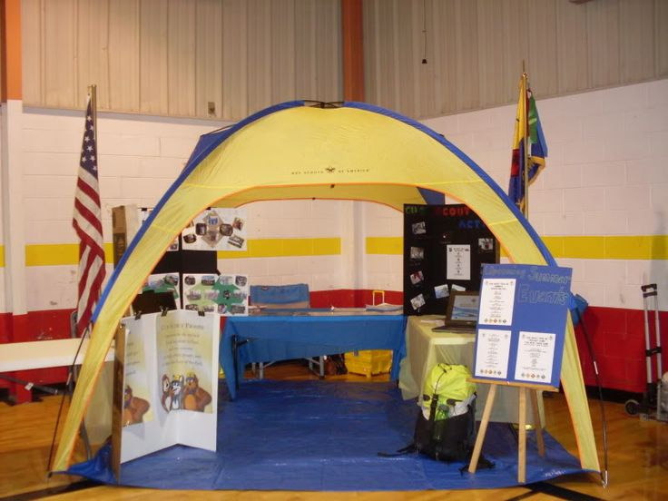 Cub Scout recruitment booth