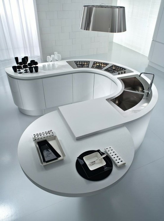 Kitchen - perfect for an awkward shaped kitchen or small one  Absolutely love this!