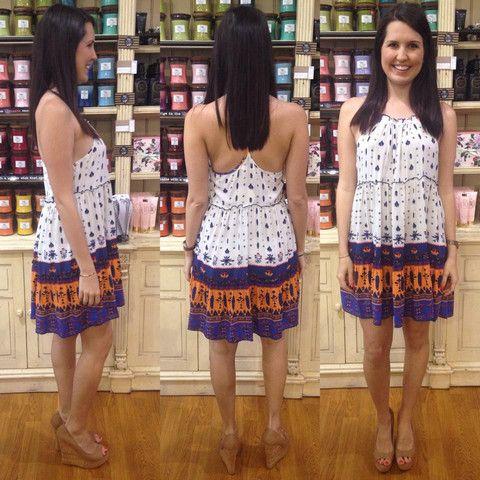 Jane Dress Purple/Orange – Orange Sherbet Boutique