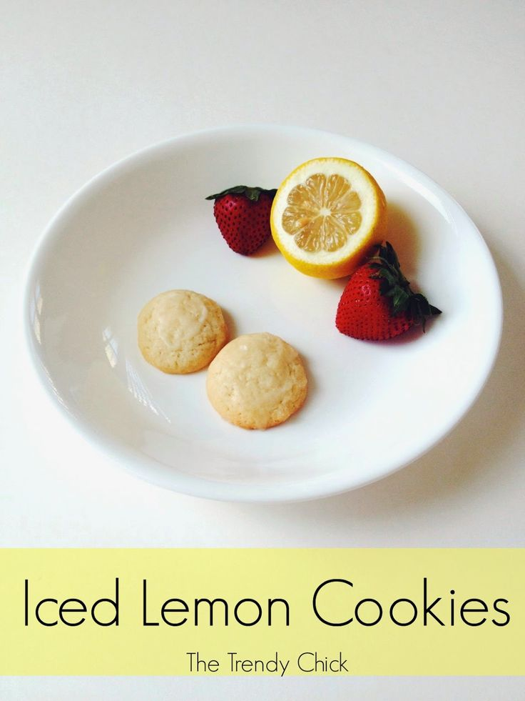 Iced Lemon Cookies recipe via The Trendy Chick